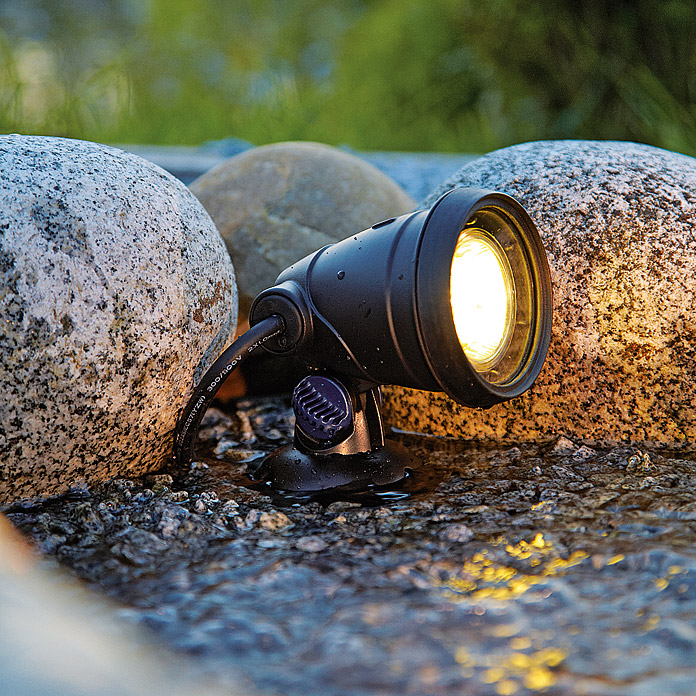 Foco subacuático para la iluminación de estanques-