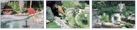 Construcción de un estanque con cubeta
